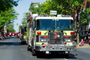 The Mt. Gretna Fire Company was one of many fire companies to join in the Lebanon Memorial Day parade hosted [by The Lebanon Veterans Advisory Council on Memorial Day, May 26, 2014 in Lebanon.  Glen Gray, Lebanon Daily News